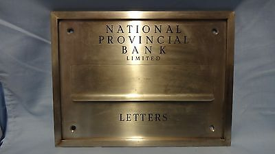 Large Vintage Metal and Enamel Letters Letterbox Postbox - National Provincial