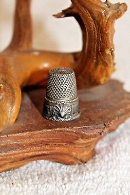 antique thimble sterling silver vintage scallop victorian