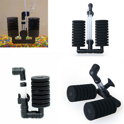 Practical Aquarium Biochemical Sponge Filter Fish Tank Air Pump Double Head O18