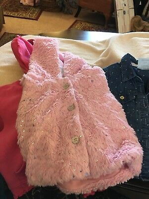 Baby Girls Size 12 Months Lot Of 3    jacket and vest 1 good Buy