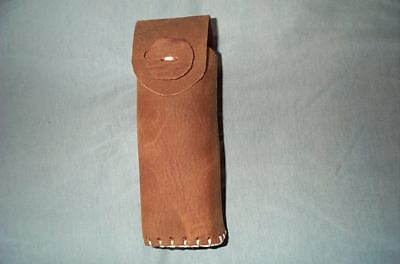 Leather  Belt Scabbard, Holster For 100 Pack .22 Rimfire Rounds.