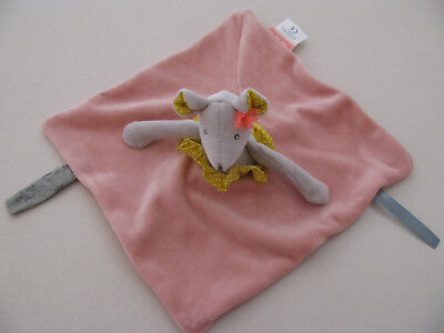 """Moulin Roty """"Mademoiselle & Ribambelle"""" Collection Plush Mouse Lovey, 10"""" -- EUC"""