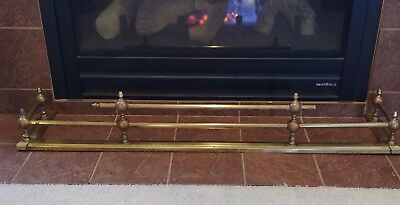 Antique / Vintage Brass Fireplace Bumper Fender Fire Finial Decor