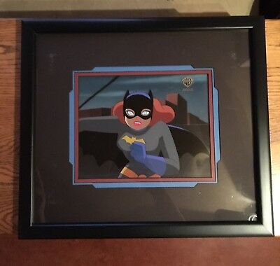 Batgirl Original Animation Cel 1997 Framed