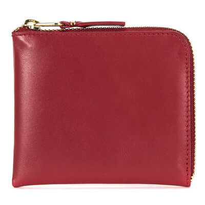 Comme des Garcons Classic Leather Half Zip Leather Wallet SA3100 Red