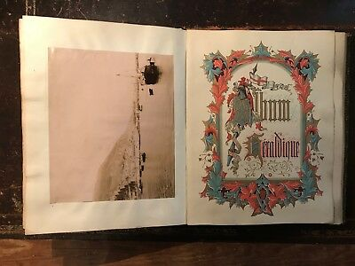 Exceptional Victorian scrap book photographs, crests, autographs & royal scraps