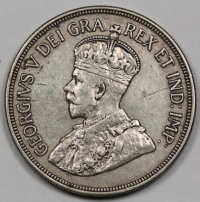 Cyprus 1928 45 Piastres Silver Coin VF/XF KM# 19 King George V Crown Size