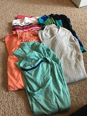 Maternity Shirt Lot Of 5 Sizes Large And X-large