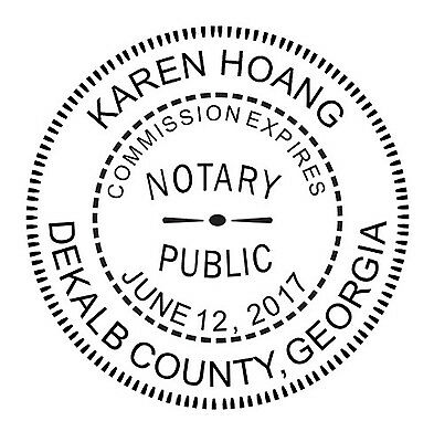 NEW CUSTOM OFFICIAL GEORGIA NOTARY PUBLIC ROUND SELF INKING RUBBER ...