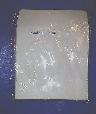 100 CD/DVD Ehite Paper Sleeve Envelopes with Clear Window Flap