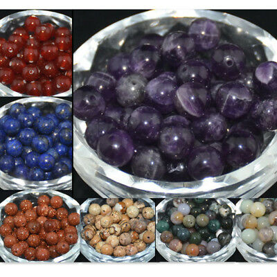 Bulk Wholesale Lot Natural Gemstone Round Spacer Loose Beads 4mm 6mm 8mm 10mm