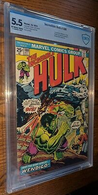 INCREDIBLE HULK #180 **1ST WOLVERINE CAMEO** 5.5 FN- CBCS *STAMP INTACT* Marvel