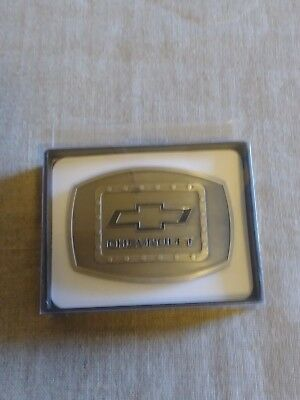 Chevrolet Pewter Colored Belt Buckle