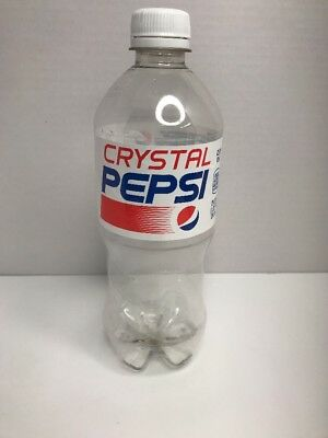 2017 Crystal Pepsi Bottle - Empty Clean Bottle - 20oz - Rare & Out Of Print