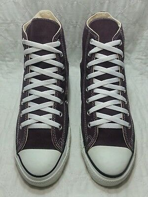CONVERSE made in USA hi top all star purple and white sz 10.5 men's