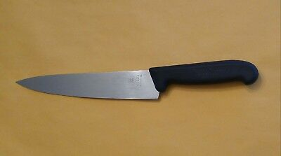 "Forschner Victorinox 40524 9"" Butcher Knife Switzerland Black Fibrox Handle L@@K"