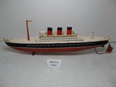 (Lot #161) Vintage Arnold Tin Toys Made in Germany Ocean Liner Ship Parts