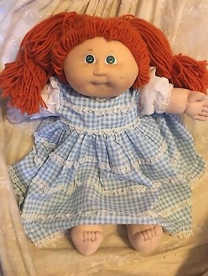 Vintage CABBAGE PATCH KID DOLL Girl. Red Hair, Green Eyes 1985