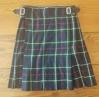GET SHIRTY Edinburgh Men's Size 32 Blue Multi-Color Tartan Scottish Kilt