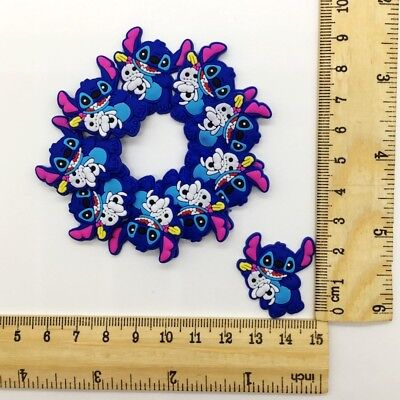 Cute Stitch Flatback PVC Charms Girl Gift For Hair Bands Accessory 10pcs