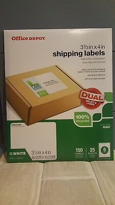 "Avery 48464 - Office Depot Brand 3 1/3"" x 4"" White Shipping Labels - Pack of 150"