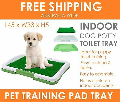 GRASS Indoor Pet Cat Puppy Dog Potty Training Portable Toilet Poo Pad Tray Mat