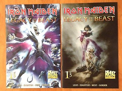 Iron Maiden Legacy Of The Beast # 1 Covers A & B  1st Print  Heavy Metal  NM+