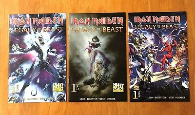 Iron Maiden Legacy of the Beast # 1 Covers A,B.C 1st Print Heavy Metal 2017 NM