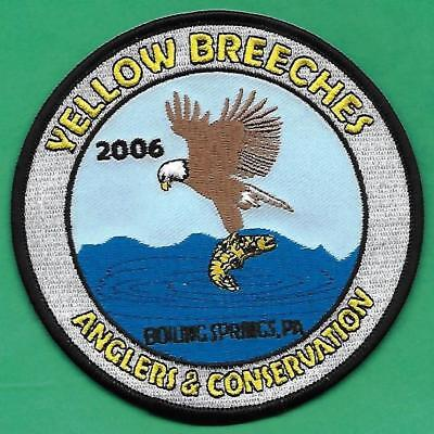 Pa Pennsylvania Fish Game Commission 2006 Yellow Breeches Anglers Fishing Patch
