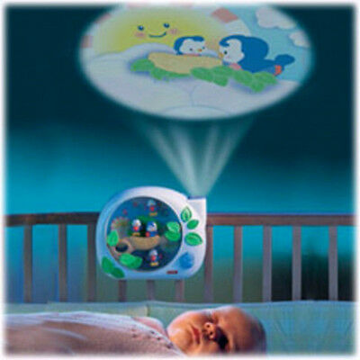 Fisher-Price Flutterbye Lullabye Birdies Baby Soother w/ Music Sounds Light Show