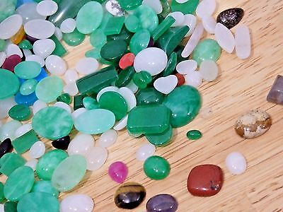 Lot of 100 gr (500 ct) Mixed Gemstone Stone Cabs Cabochons SMALL. USA seller