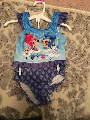 Shimmer and Shine Girls Tankini Swimsuit Size 3T Purple