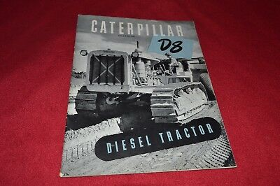 Caterpillar D8 Crawler Tractor Dealer's Brochure RPMD