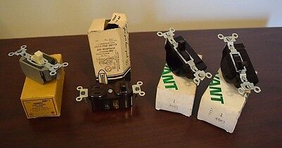 Vintage Mixed Lot of Electrical Switches-Bryant-Leviton-Hubbell - Take a L@@K