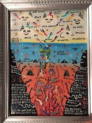 Early HOWARD FINSTER 1988 ALL Paint No Markers Painting Monster of Hell Vision