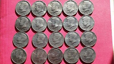 One (1) Roll of Mixed Dates Kennedy Half Dollars- 20 coins #2