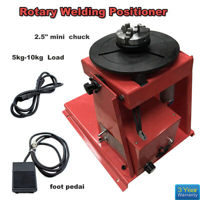"Mini 2.5"" 3 Jaw Rotary Welding Positioner Turntable Table Lathe Chuck 2-10 R/MIN"