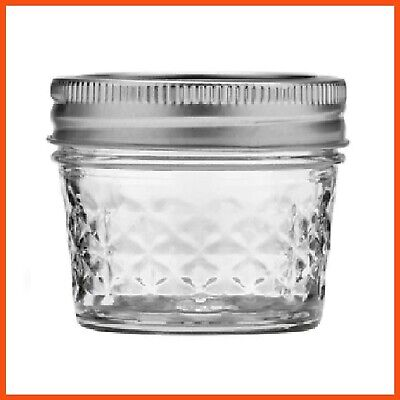 72 x 120ml Quilted Round Glass Jars + Silver Lid Wedding Favours Lolly Jars Bulk