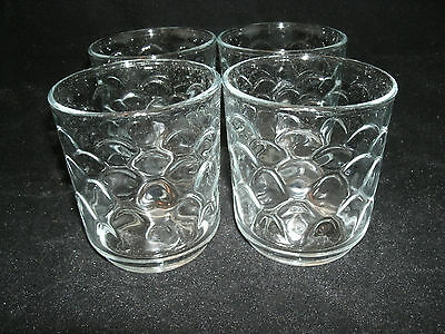 Libbey CANCUN Set of 4-11 oz. Rocks Old Fashioned Tumblers Glassware Clear NEW