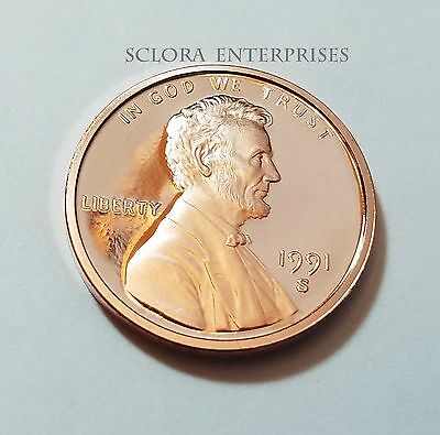 1991 S Lincoln Memorial *proof* Cent / Penny  **free Shipping**