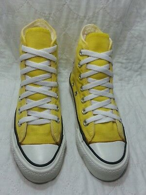 CONVERSE made in USA hi top all star yellow and white sz 2.5  men's