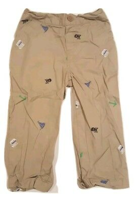 Cherokee Baby Boy Size 24 Months Khaki Pants with Boats.