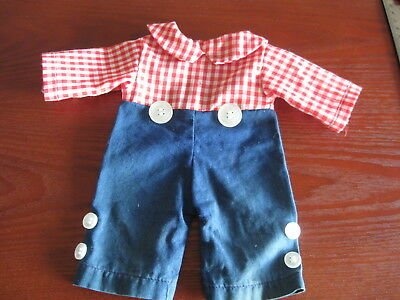 """Raggedy Andy One Piece Outfit  Mommy Made Fits 14-15"""" Doll?"""