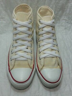 CONVERSE made in USA hi top all star white size 5 men's women's sz 7
