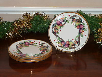 LENOX HOLIDAY TARTAN PLAID BREAD BUTTER PLATES ~ SET OF 4 ~ New w/tags