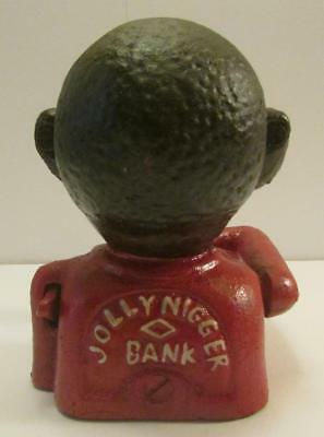 "Very Nice Cast Iron Black Americana ""Jolly N"" Still Coin Bank"