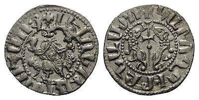B1: Medieval:Crusaders :Cilician Armenia Levon I 1198-1219 silver hammered coin