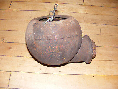 Large ~~Antique well/pump diverter conductor cup cast ~~~~ Love Mfg