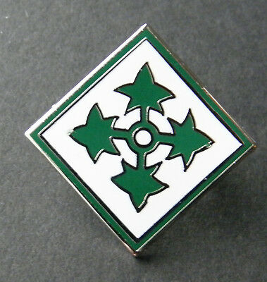 Us Army 4Th Infantry Division Lapel Pin Badge 1 X 3/4 Inch