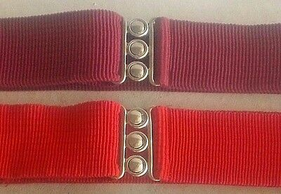 Malco Modes Elastic Square Dance Belt w/ Metal Buckle, Size Med-Color Choice